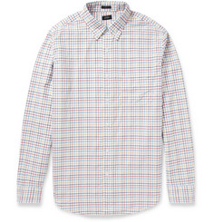 J.Crew Slim-Fit Check Brushed-Cotton Shirt