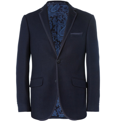Etro Knitted Cotton-Blend Blazer