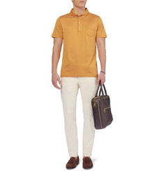 Etro Printed Cotton-Jersey Polo Shirt