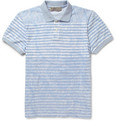 Etro Paisley-Print Striped Cotton-Piqué Polo Shirt