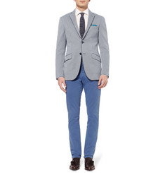 Etro Slim-Fit Houndstooth Cotton-Jersey Blazer