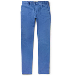 Etro Slim-Fit Brushed Cotton-Blend Trousers
