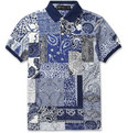 Etro Paisley-Print Cotton-Pique Polo Shirt