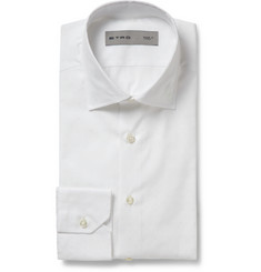Etro White Slim-Fit Patterned Cotton Shirt