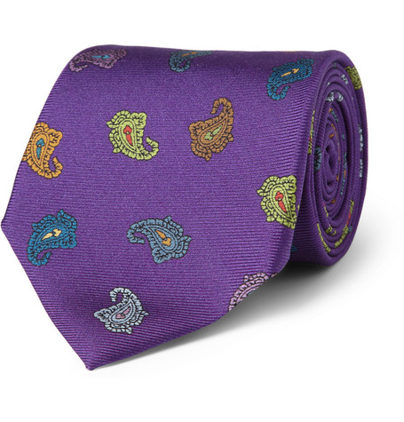 Etro Paisley-Patterned Silk Tie