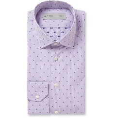Etro Slim-Fit Embroidered Striped Cotton Shirt