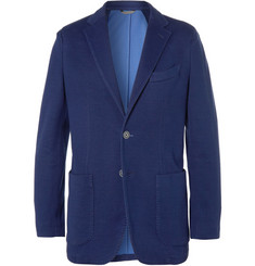 Canali Unstructured Slim-Fit Woven Cotton-Blend Jersey Blazer