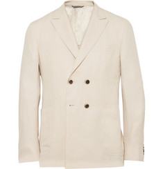 Canali Kei Slim-Cut Linen And Silk-Blend Blazer