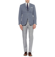 Canali Kei Unstructured Linen and Silk-Blend Blazer
