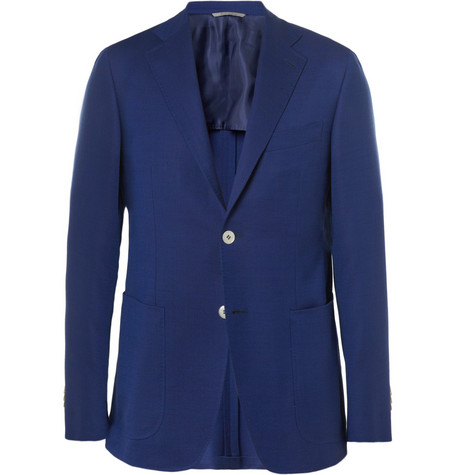 Canali Kei Travel Unstructured Wool Blazer