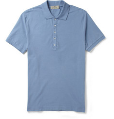Canali Cotton-Blend Micro-Piqué Polo Shirt