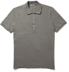 Canali Cotton-Blend Pique Polo Shirt