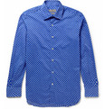 Canali - Polka Dot-Print Cotton-Blend Shirt