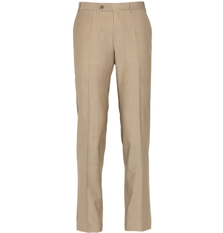 Canali Travel Tropical-Wool Trousers