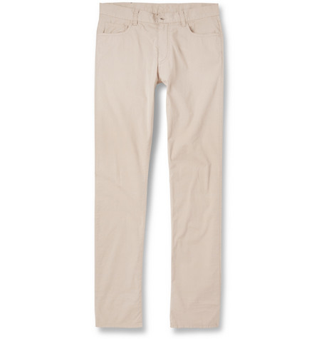 Canali Regular-Fit Washed Cotton-Blend Lightweight Trousers
