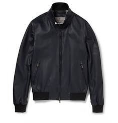 Canali Textured-Leather Jacket
