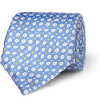 Canali - Flower-Patterned Woven-Silk Tie