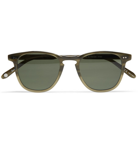 Garrett Leight California Optical Brooks D-Frame Polarised Sunglasses