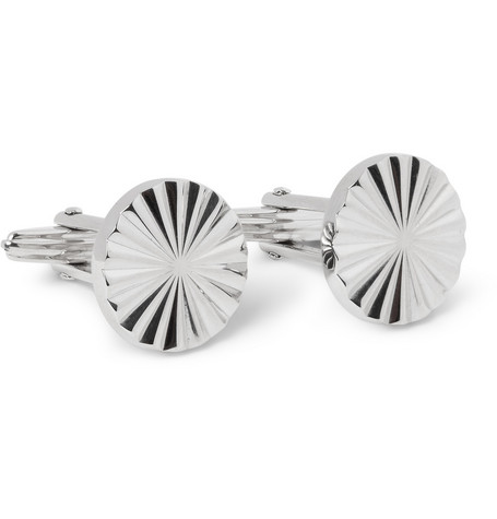 Lanvin Engraved Metal Cufflinks