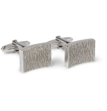 Lanvin Etched Metal Cufflinks