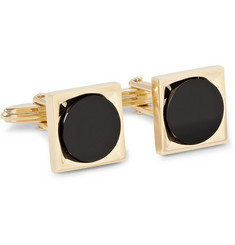 Lanvin Gold-Plated and Onyx Cufflinks