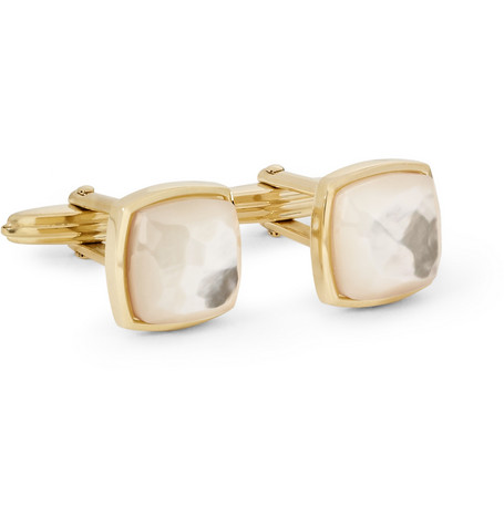 Lanvin Gold-Plated and Mother-of-Pearl Cufflinks