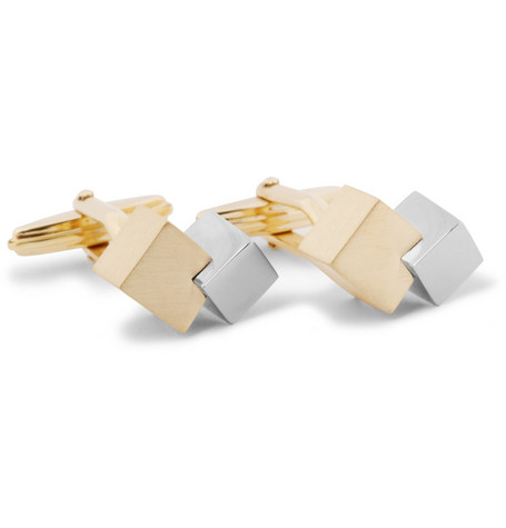 Lanvin Cube Gold-Plated Cufflinks