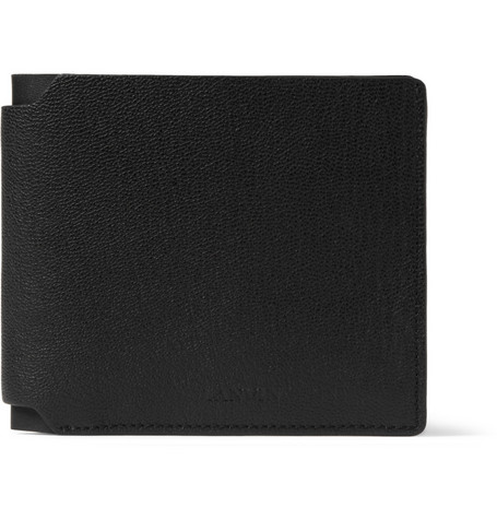 Lanvin Textured-Leather Billfold Wallet