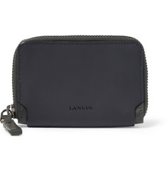 Lanvin Rubberised-Leather Zipped Wallet