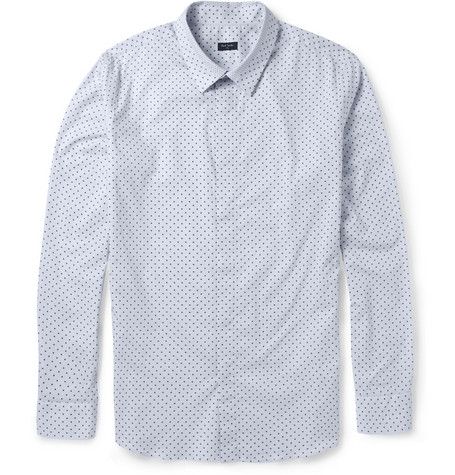 PS by Paul Smith Slim-Fit Polka Dot-Print Cotton Shirt