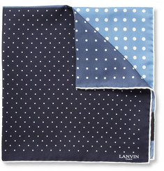 Lanvin Polka Dot-Print Silk Pocket Square