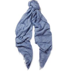 Lanvin Cashmere and Cotton-Blend Scarf