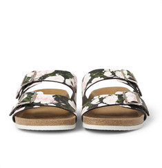 Givenchy Swiss Sandals in Roses-Print Leather
