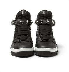 Givenchy Tyson High-Top Leather Sneakers with Stars