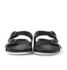 Givenchy Swiss Sandals in Black Leather
