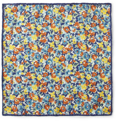 J.Crew Floral-Print Wool-Twill Pocket Square