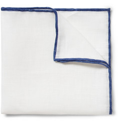 J.Crew Contrast-Edge Linen Pocket Square