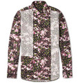 Givenchy Slim-Fit Flower-Print Panelled Cotton Shirt