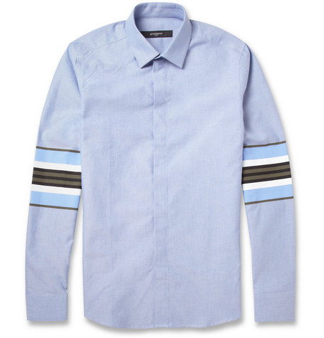 Givenchy Slim-Fit Stripe-Print Cotton Oxford Shirt