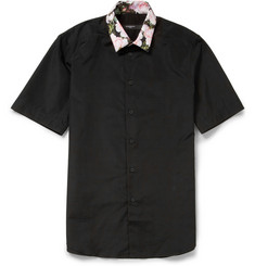 Givenchy Printed Short-Sleeve Cotton Shirt