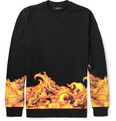 Givenchy - Flame-Print Cotton Sweatshirt