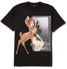 Givenchy Black Bambi Print Cotton-Jersey T-shirt