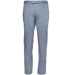 Slowear Incotex Slim-Fit Printed Cotton-Blend Chinos