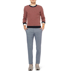 Incotex Slim-Fit Printed Cotton-Blend Chinos