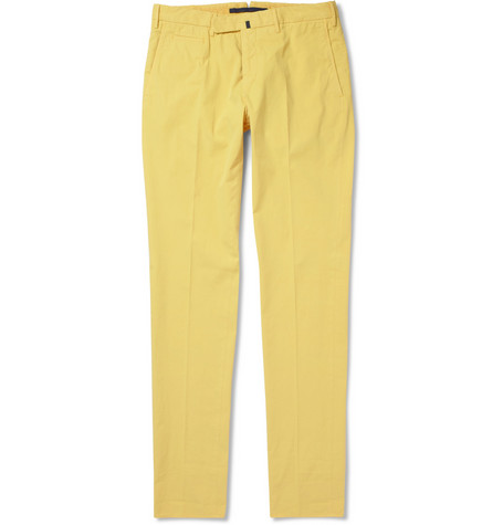 Incotex Slim-Fit Cotton-Blend Trousers