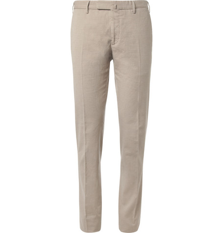Slowear Incotex Slim-Fit Herringbone Cotton-Blend Trousers