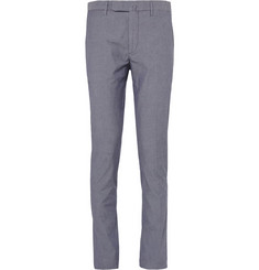 Incotex Slim-Fit Cotton-Blend Chambray Chinos