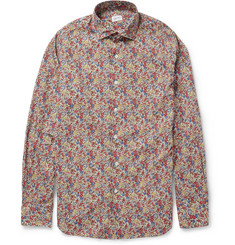 Slowear Glanshirt Slim-Fit Flower-Print Cotton Shirt