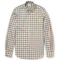 Incotex Slim-Fit Plaid Cotton-Poplin Shirt