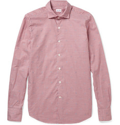 Slowear Glanshirt Slim-Fit Embroidered Check Cotton Shirt